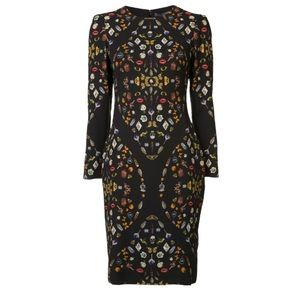 Alexander McQueen Obsession print jersey dress